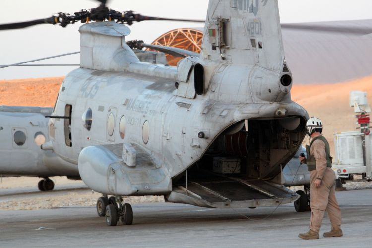 Image: U.S.M.C. CH-46 Sea Knight Helicopter