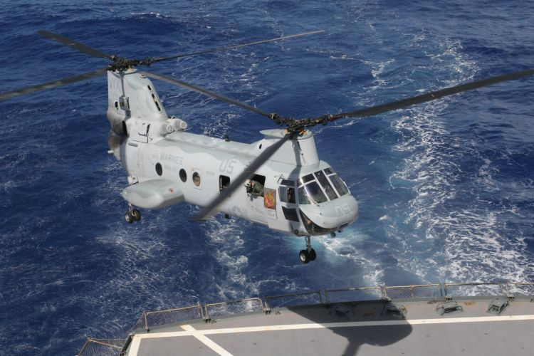 U.S.M.C. CH-46 Sea Knight Helicopter