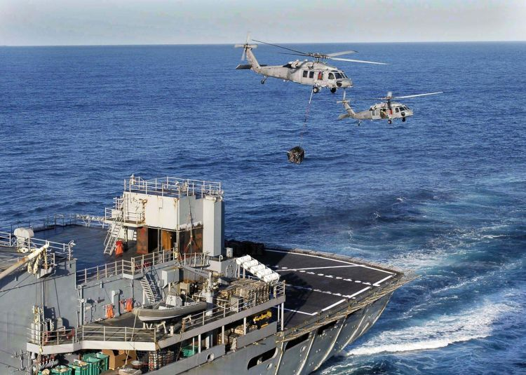 Image: Two U.S. Navy MH-60S Seahawks Helicopters