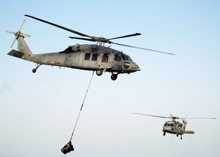 Image: Two U.S. Navy SH-60 Seahawk Helicopters