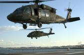 Image: Two U.S. Army UH-60A Blackhawk Helicopters
