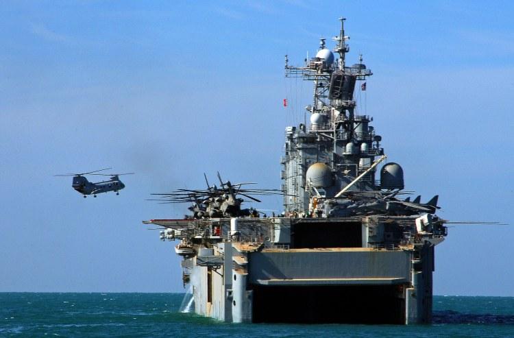 Image: U.S.M.C. CH-46E Sea Knight Helicopter