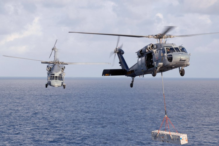Image: Two U.S. Navy MH-60S Seahawk Helicopters