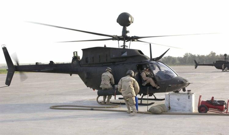 U.S. Army OH-58D Kiowa Warrior Helicopter